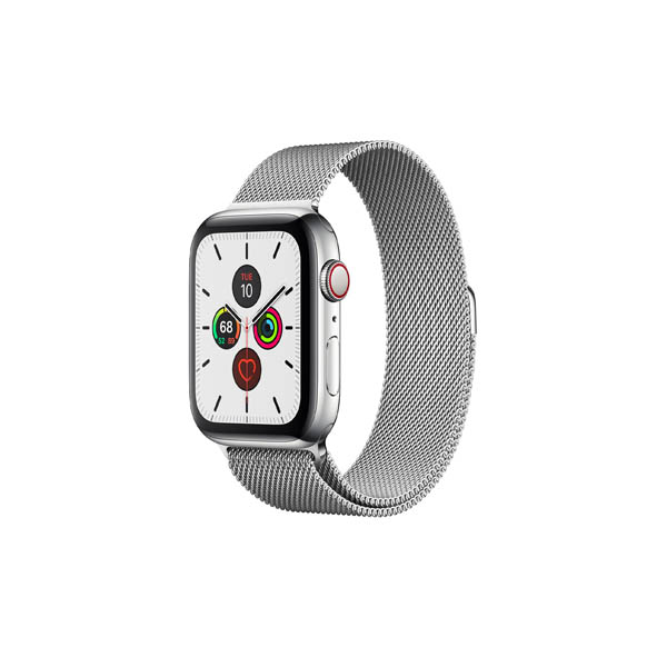 APPLE WATCH SERIES 5 GPS + CELLULAR, 44MM STAINLESS STEEL CASE WITH STAINLESS STEEL MILANESE LOOP (MWWG2AE/A)
