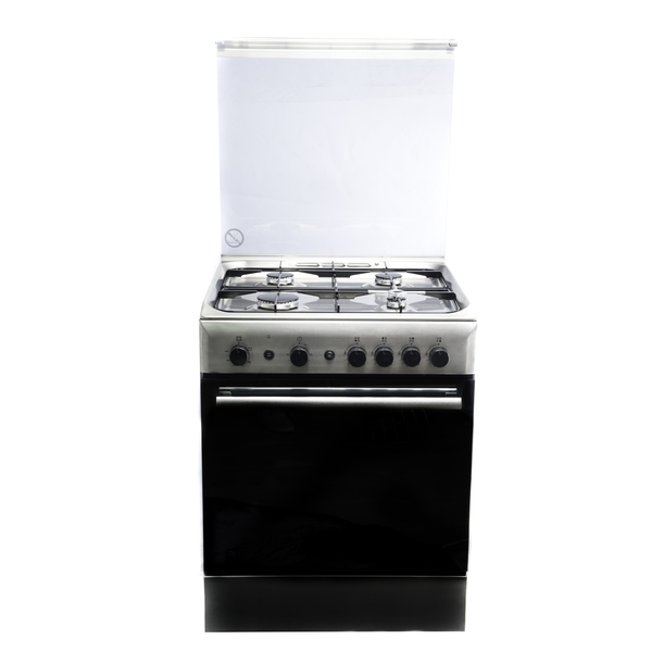 Ariston 4 Burners Stainless Steel Gas Cooker, 60 cm (A6GG1F (X) EX)