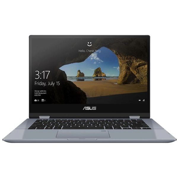 ASUS VIVO BOOK Core i3-10 Gen- RAM 4GB SSD 256GB shared Graphics win-10 Screen 14inch Silver Blue stylus -TP412FA-EC403T