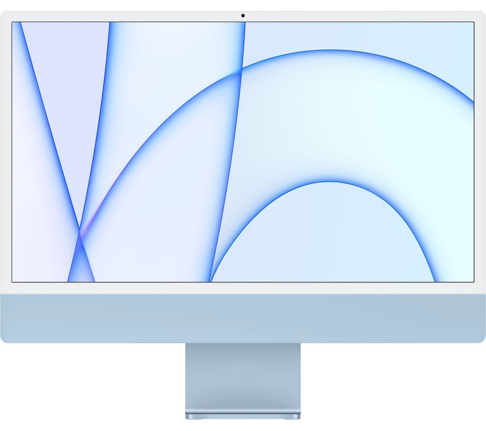 Apple IMAC M1 chip with 8‑core CPU and 8‑core GPU, 256GB 24-inch with Retina 4.5K display MGPK3AB/A Blue
