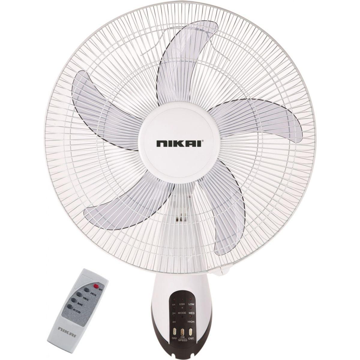 Nikai Wall Fan with Remote (NWF1636R)