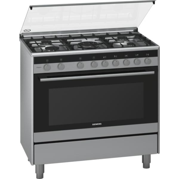 Siemens iQ100 Range Cooker 90 cm wide - Stainless steel (HG73G6357M)