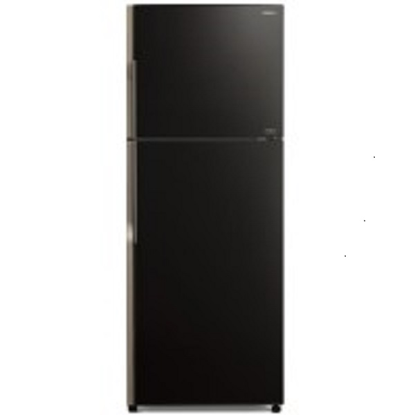 Hitachi Refrigerator Stylish Line Glass Door Inverter Glass Black 470Ltrs(RVG470PUK3GBK)