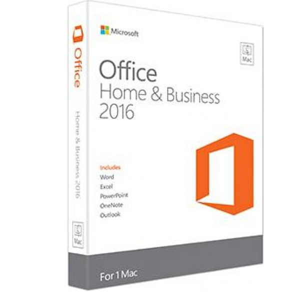 MICROSOFT OFFICE MAC HOME BUSINESS 1PK 2016-ENGLISH MIDDLEAST EM MEDIALESS W6F-00529