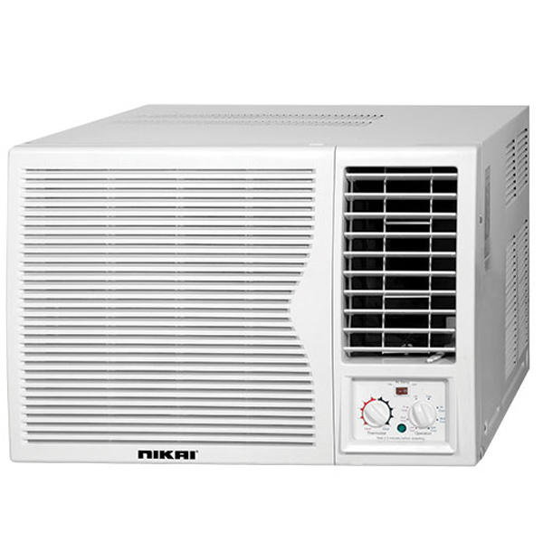 Nikai Window Air Conditioner Powerful Compressor Silent Operation 3 Cooling Speed (NWAC18031N5)