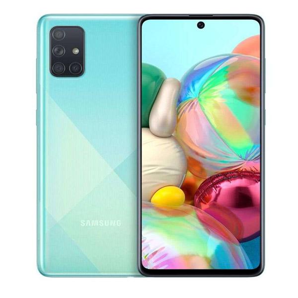 """Samsung Galaxy A71 6.7"""", Dual Sim, 4G LTE, 8GB, 128GB Smartphone Prism Crush Blue (SMA715F-8GBB)"""