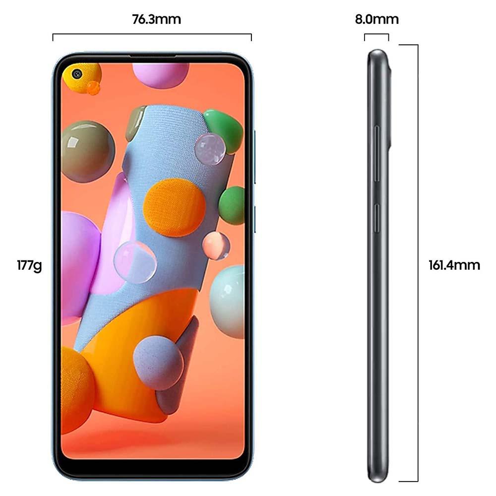 """Samsung Galaxy A11 6.4"""" 32GB, 2GB RAM Black SMA115FW-32GBBE"""
