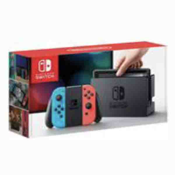 NINTENDO SWITCH NEON JOY-CON CONSOLE + SWITCH MARIO KART 8 DELUXE GAME (HWSW-427078)