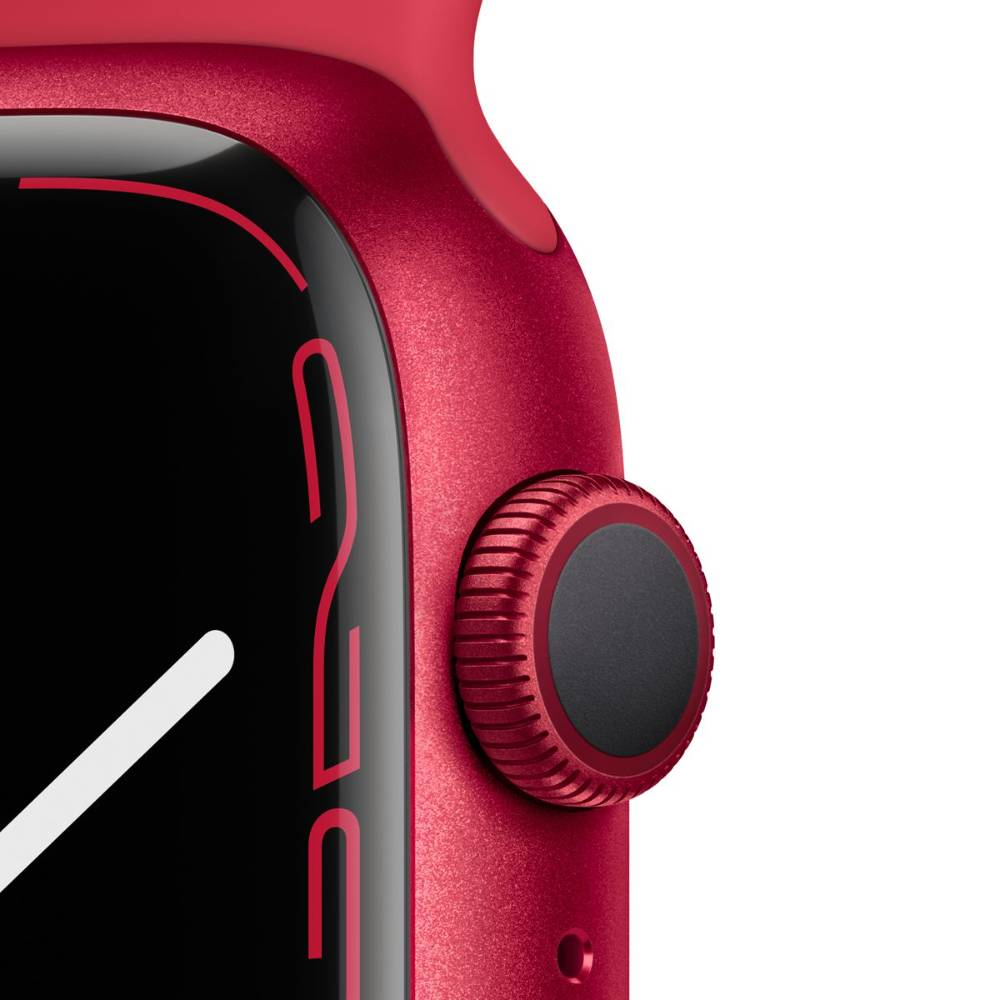 Apple Watch Series 7 GPS, 41mm (PRODUCT)RED Aluminium Case with (PRODUCT)RED Sport Band - Regular - MKN23AE/A + EXTRA BAND
