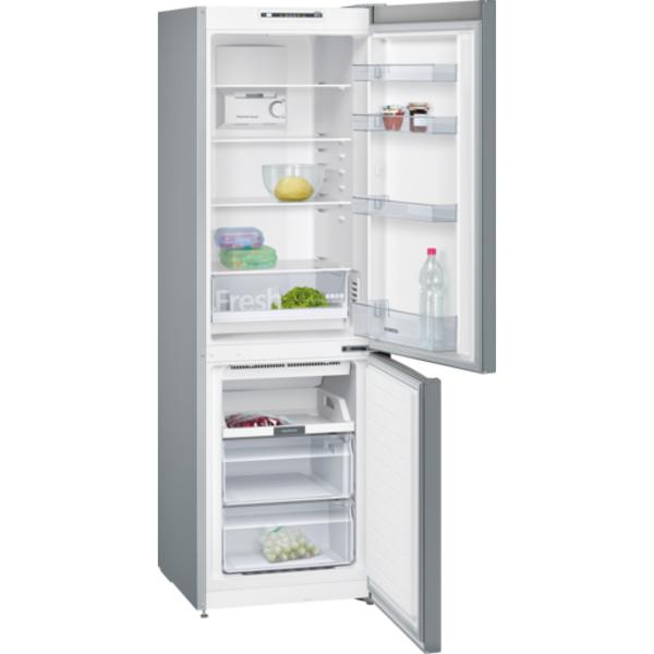 Siemens 329L iQ100 noFrost, Bottom freezer Door color Inox-look (KG36NNL30M)
