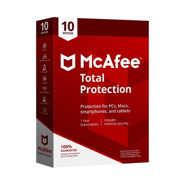 McAfee Total Protection -10 users (MTP00ANRXRAA)