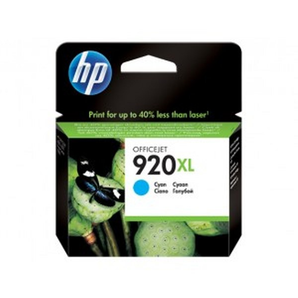 HP 920XL High Yield Cyan Original Ink Cartridge (CD972AE)