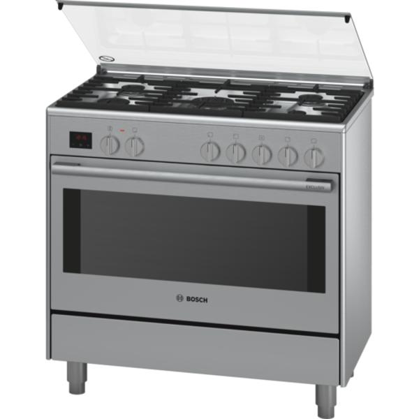 Bosch Serie 8 Range Cooker 90 cm wide - Stainless steel (HSB738357M)