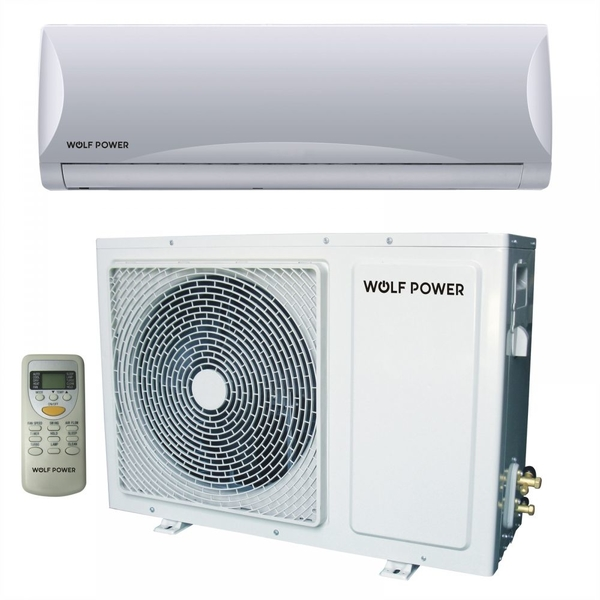Wolf Power 2 Ton Split Air Conditioner with Rotary Compressor, White (WSAC24RCH)