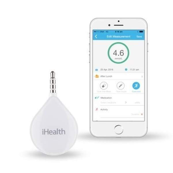 iHealth Align Glucose Meter + AGS1 1Box Testing Strips (BG1B)