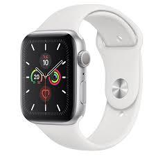 Apple Watch Series 4-40 mm GPS Silver Aluminium Case With White Sport Band MU642-EC