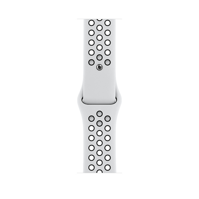 Apple Watch Nike SE GPS, 44mm Silver Aluminium Case with Pure Platinum/Black Nike Sport Band - Regular MYYH2AE/A
