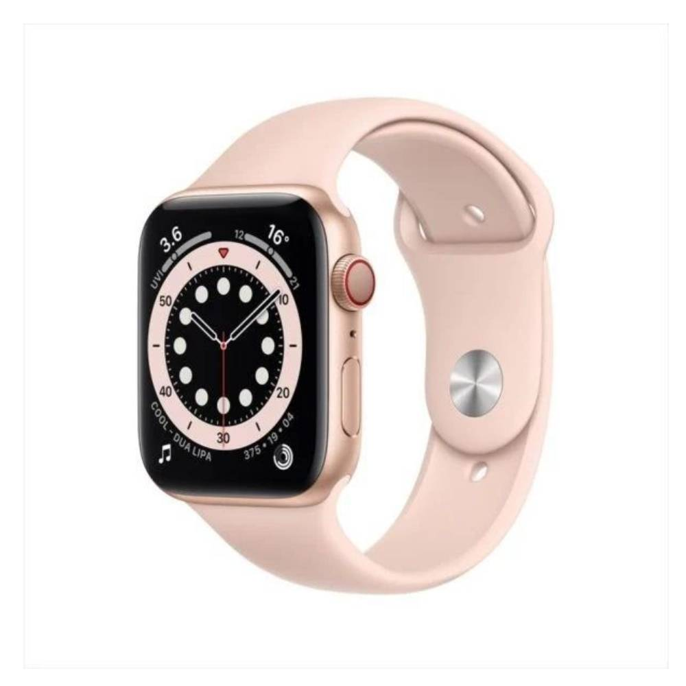 Apple Watch Series 6 GPS+Cellular 44mm Gold Aluminum Case with Pink Sand Sport Band MG2D3AE/A