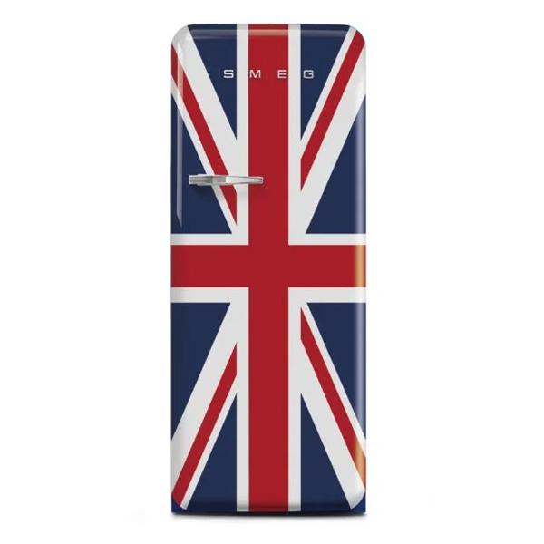 Smeg Single Door Refrigerator, Union Jack, 50' Retro Style, 248 Litres (FAB28RDUJ3GA)