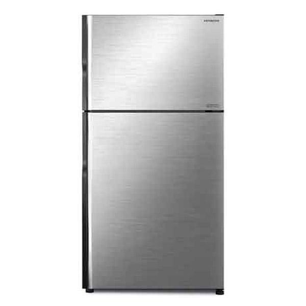 Hitachi 450Ltrs Top Mount Inverter Refrigerator Brilliant Silver Color (RV450PUK8KBSL)