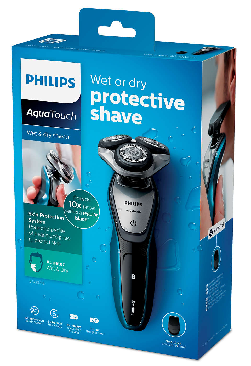Philips AquaTouch Wet and dry electric shaver S5420