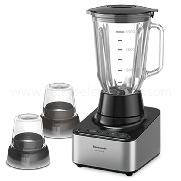Panasonic Glass Jug Blender - Powerful Motor 800W, 1500ml Capacity, Perfect for Ice Crushing, Glass Jug with 2 Mill Attachment, Circuit Breaker, Made in Malaysia (MXKM5070)