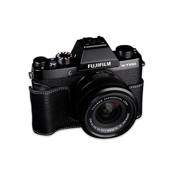 Fujifilm X-T100 Mirrorless Digital Camera Black With XC 15-45mm f/3.5-5.6 OIS PZ Lens (FXT100BK)