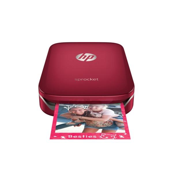 HP Sprocket Photo Printer - Red (Z3Z93A)