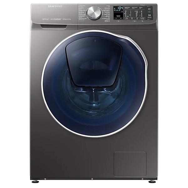 Samsung 9/6 Kgs Washer/Dryer, 1400 RPM, Q-Drive, Add Wash, DIT, Smart Control, Eco Bubble, Inox finish, Crystal Blue door (WD90N64FOOO/GU)