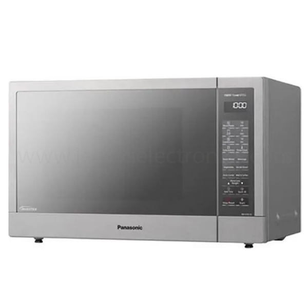 Panasonic 31L, Grill Microwave Oven, Inverter, 1000W microwave, 1100W grill,  Stainless steel door, Silver body color, Quick30, Sensor Reheat, 20 Auto menu (NNGT67J)