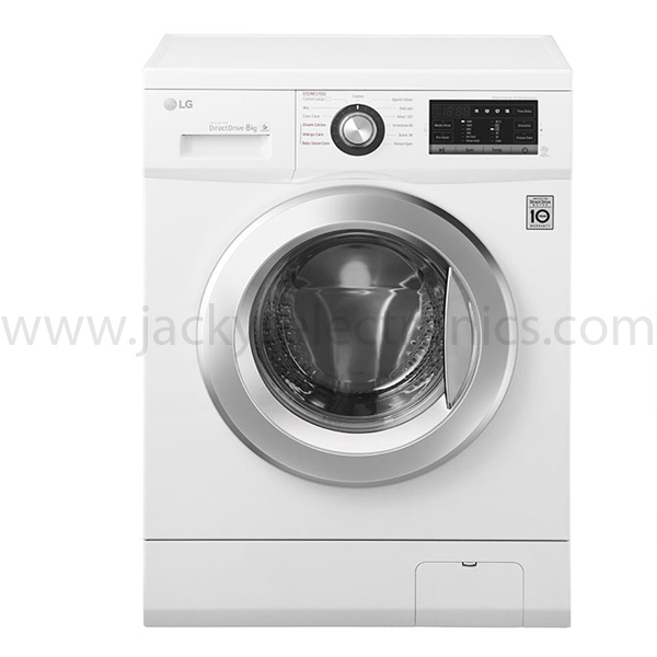LG Front Load Washer, 8 Kg, 6 Motion Direct Drive, Steam Technology (FH4G6TDY2)