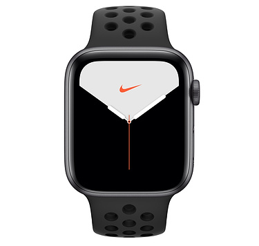 Apple Watch Nike Series 5 GPS, 44mm Space Grey Aluminium Case with Anthracite/Black Nike Sport Band - S/M & M/L (APPLE WATCH N S5 44 SG AL AB SP GPS-AMU) PRE- BOOKING AVAILABLE