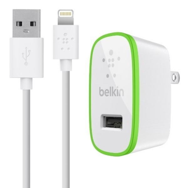 BELKIN MOB AC-2.1A-LTG USB 2.1AMP WITH LIGHTENING CABLE (F8J052UK04-WHT)
