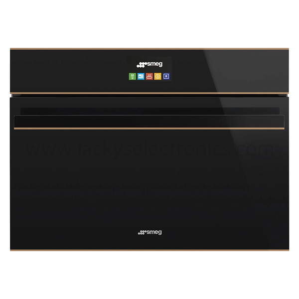 Smeg 60cm Dolce Stil Novo, Pyrolytic Multifunction oven, Eclipse Black Glass with Copper Trim Energy rating A+ (SFP6604NRE)