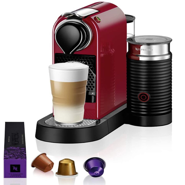 Nespresso  Citiz & Milk C123 Cherry Red Coffee Machine (D123-ME-CR-NE)