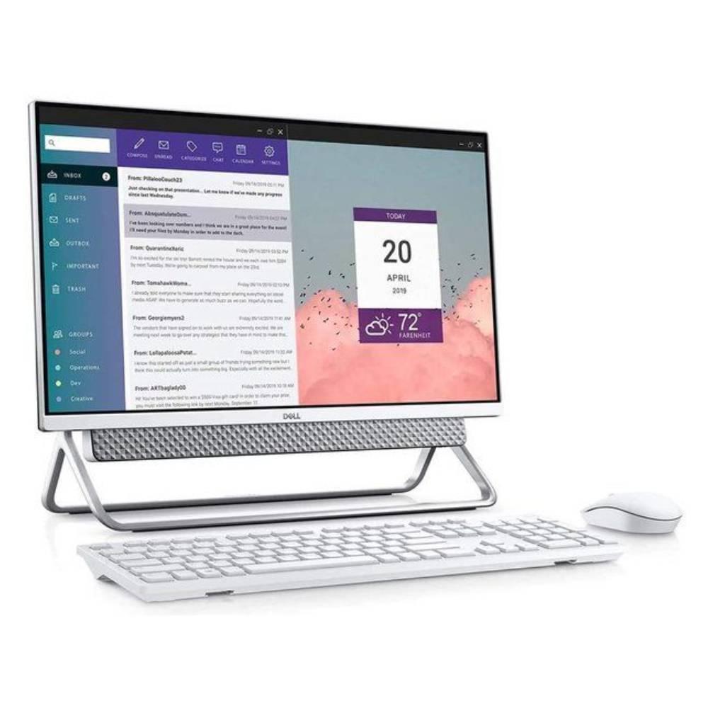 DELL AIO Core i5 11th Gen 8GB RAM 1TB HDD +256GB SSD 2GB Graphics 23.8″ Screen Windows 5400-INS-6500-SLV Silver