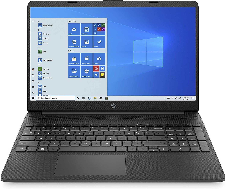 HP NOTEBOOK CORE i3-10th RAM 4GB SSD128GB Screen 15inch WIN 10  BLACK 15S-FQ1021