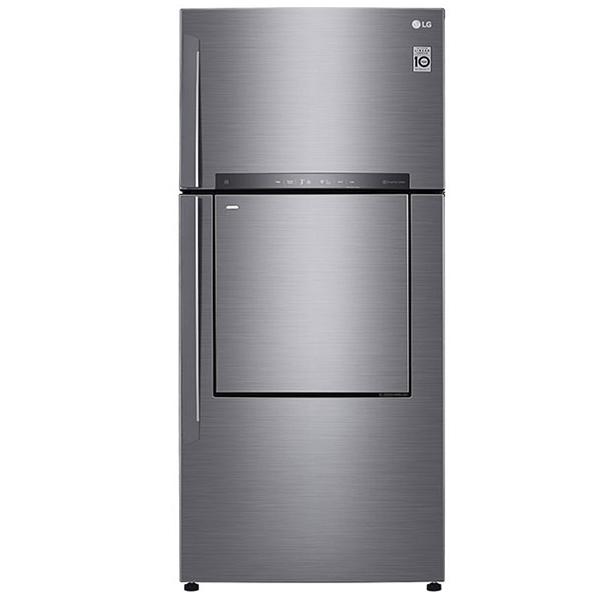 LG 730 Liters Top Mount Refrigerator with Linear Inverter Compressor, Door In Door, Hygiene Fresh Plus Technology, Shiney Steel - GN-D732HLHU