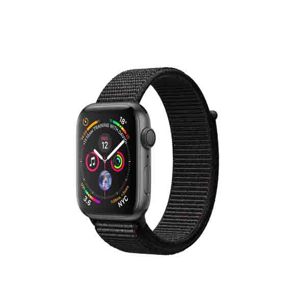 Apple Watch Series 4 GPS + Cellular, 40mm Space Grey Aluminium Case with Black Sport Loop (MTVF2AE/A)