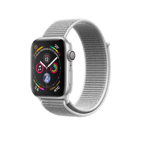 Apple Watch Series 4 GPS + Cellular 40mm Silver Aluminum Case With Seashell Sport Loop (MTVC2AE/A)