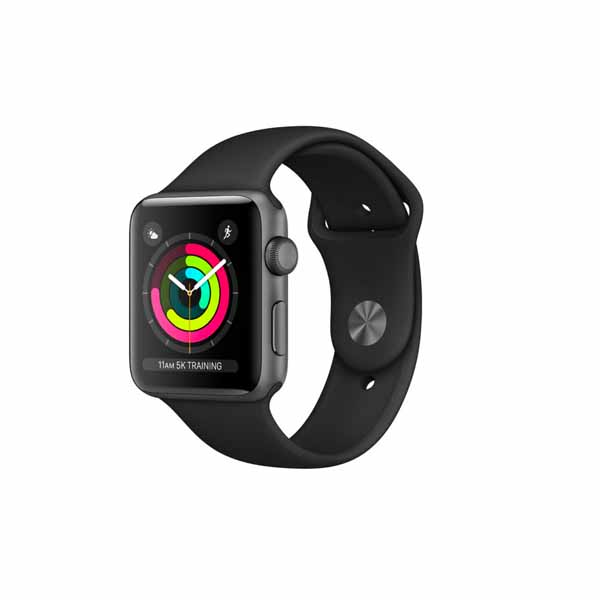 APPLE WATCH SERIES 3 GPS  42MM SPACE GREY ALUMINIUM CASE WITH BLACK SPORT BAND (MTF32AE/A)