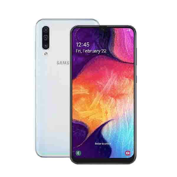 Samsung Galaxy A50, 128GB, 4GB Ram, Ramen Octa Core 2.3GHz White (SM-A505BL-EC)