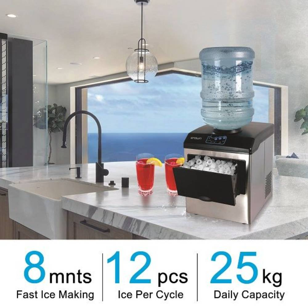 CROWNLINE TABLE TOP WATER DISPENSER WITH ICE MAKER - WD-267
