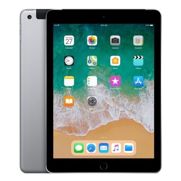 Apple iPad 6th Gen (2018) WiFi + Cellular 128GB - Space Grey (MR722AE/A)