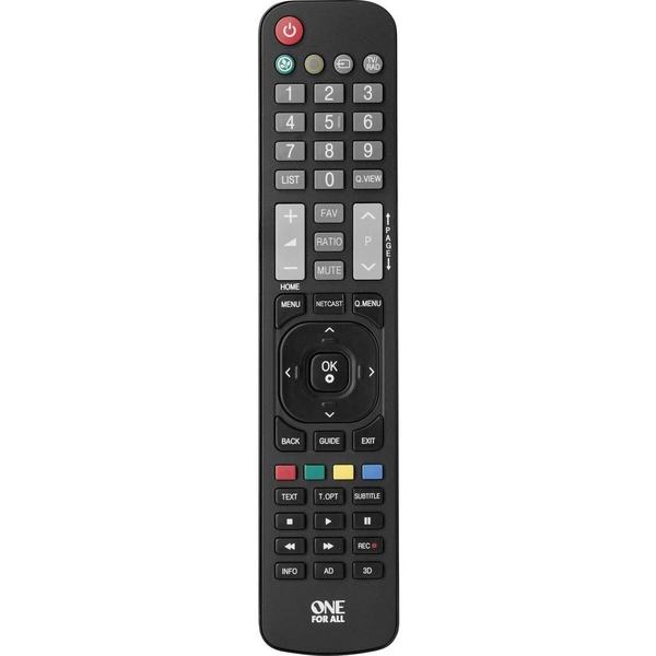 One For All LG Replacement Remote URC 1911 (CS02300019)