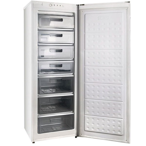 Nikai 250Liter Solid Door Upright Chest Freezer with Sturdy slide out shelves White (NUF250N)