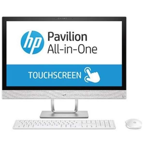 HP Pavilion All-in-One Desktop, Intel Core i7-7700T, 23.8 Inch, 12GB RAM, 2TB HDD, 2GB GPU, Windows 10, White (24-R002NE)