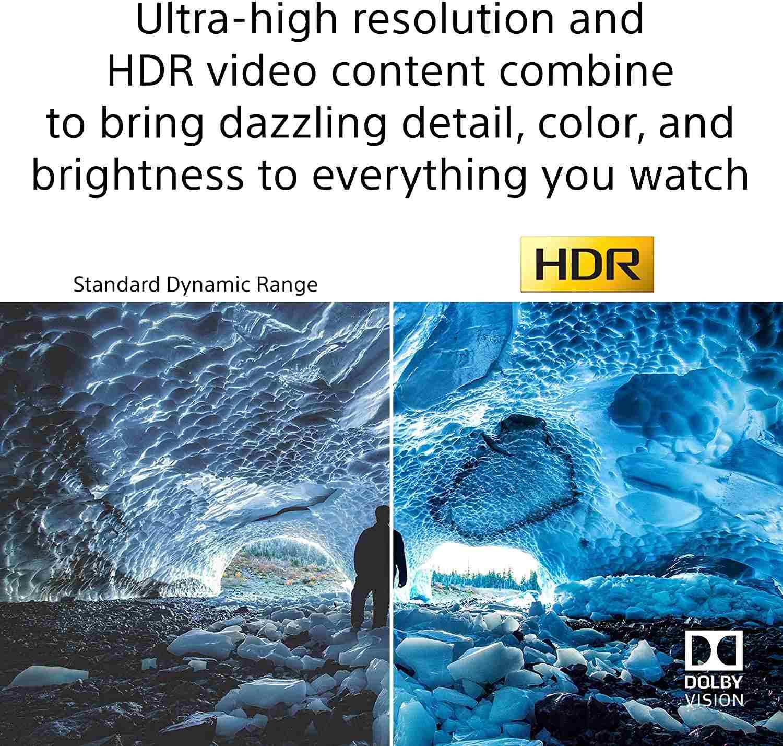 Sony X80J 75 Inch TV 4K Ultra HD LED Smart Google TV KD75X80J