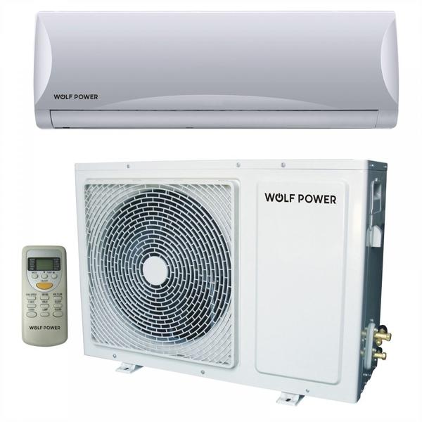 Wolf Power 1.5 Ton Split Air Conditioner with Piston Compressor, White (WSAC18PCH)