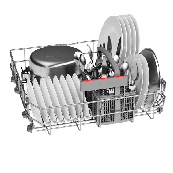 BOSCH Serie 4, free-standing dishwasher, 60 cm, silver (SMS46NI10M)